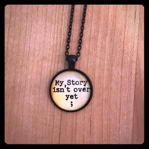 My Story Isn't Over Semicolon Necklace